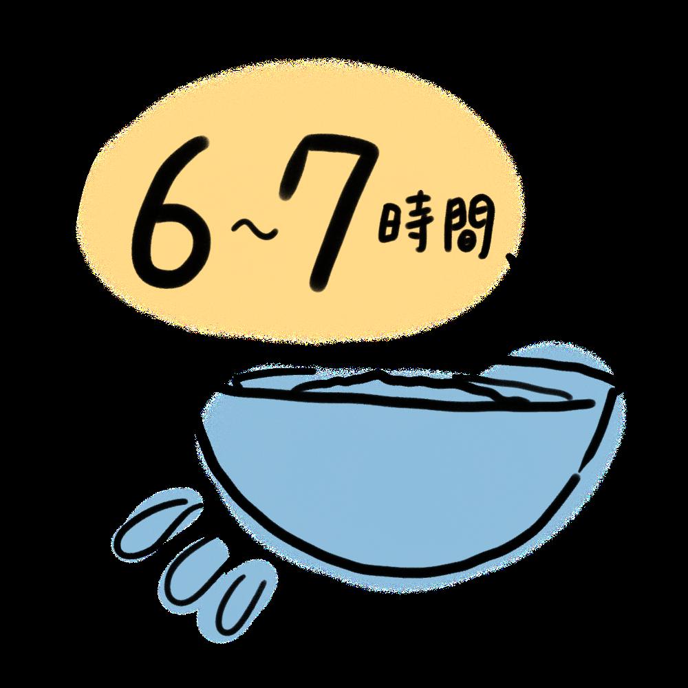 玄米の浸水時間